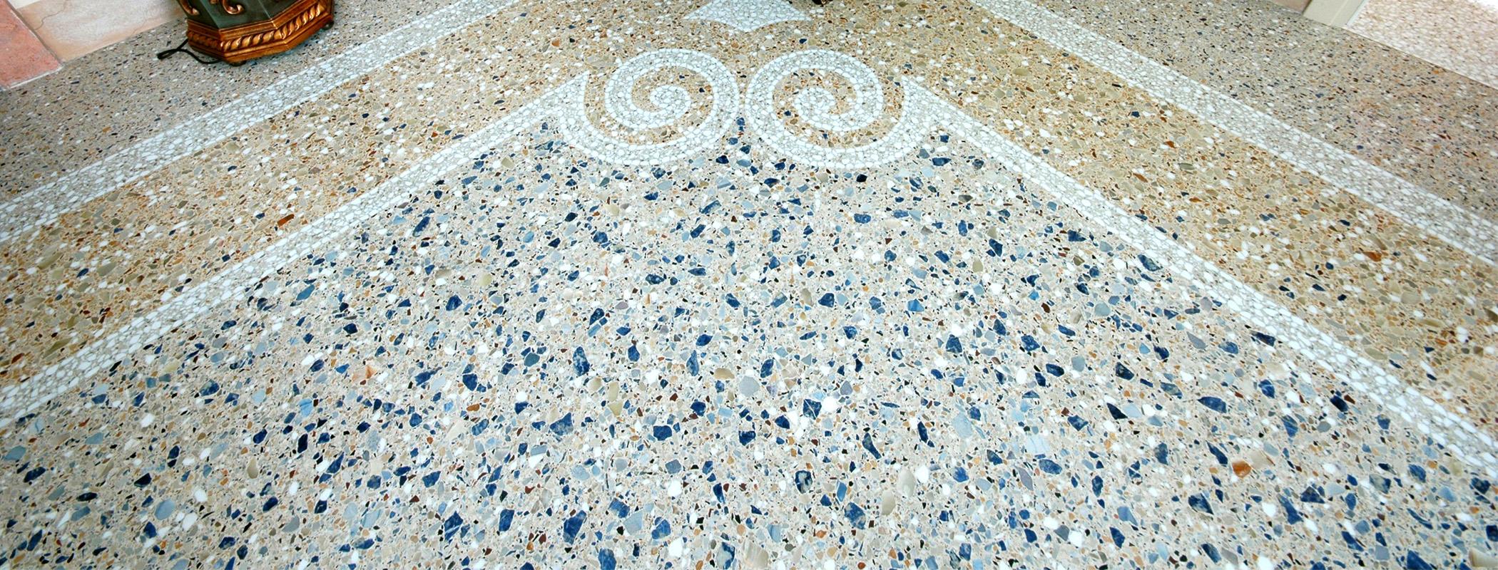 Pavimento In Terrazzo Alla Veneziana pavimento con sassi del piave, terrazzo alla veneziana